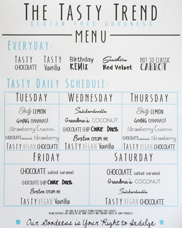 tasty trend menu
